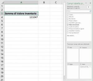 Configura pivot aggiungi campo da calcolare