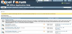 Excel Forum