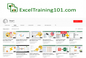 Exceltraining canale youtube