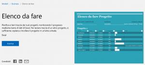 Gestione progetti Microsoft
