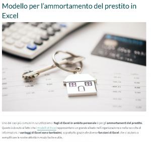 Modello per l'ammortamento del prestito