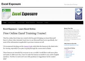 Excel Exposure