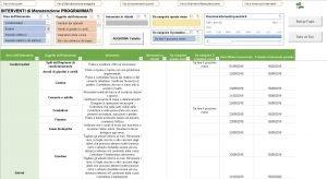 Pagina Programma foglio manutenzione casa ufficio