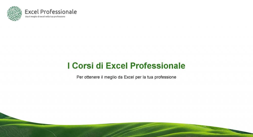 I corsi Excel Professionale